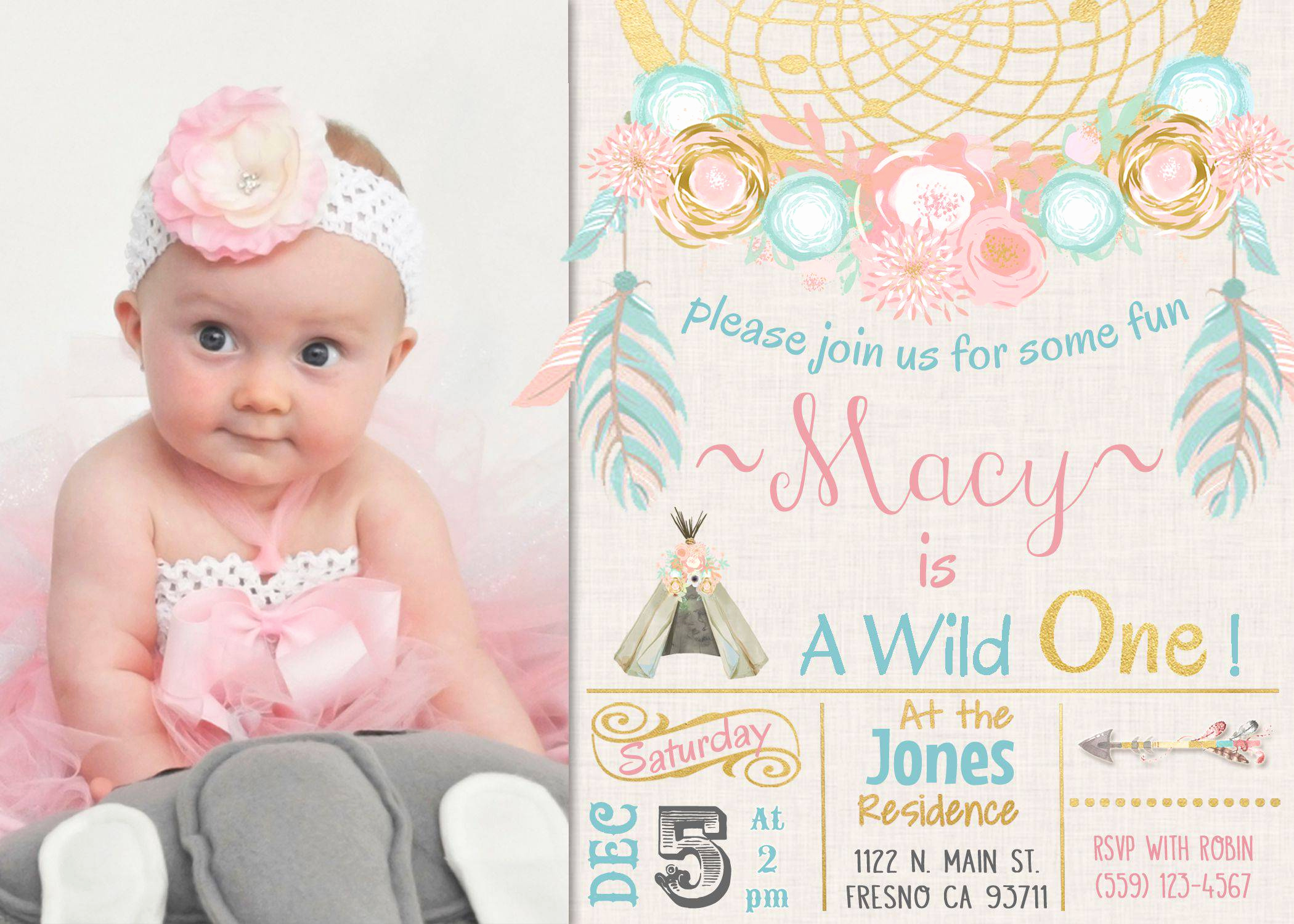 Christening and Birthday Invitation New First Birthday and Baptism Invitations First Birthday