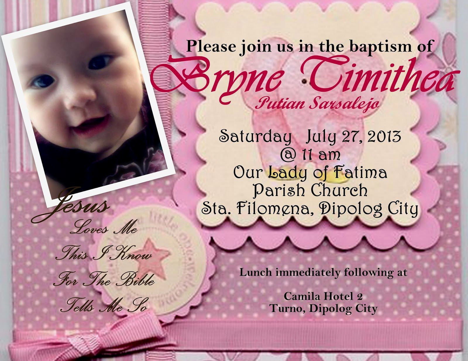 Christening and Birthday Invitation New Invitation Card for Christening Invitation Card for