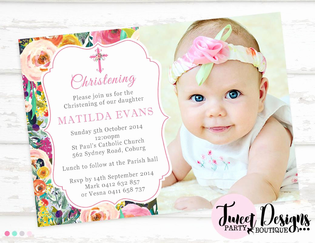 Christening and Birthday Invitation Unique Baptism Party Invitations Christening Party Invitation