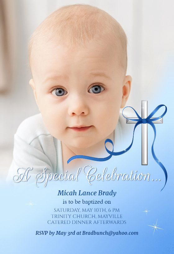 Christening Invitation for Baby Boy Awesome Baby Special Celebration Baptism & Christening