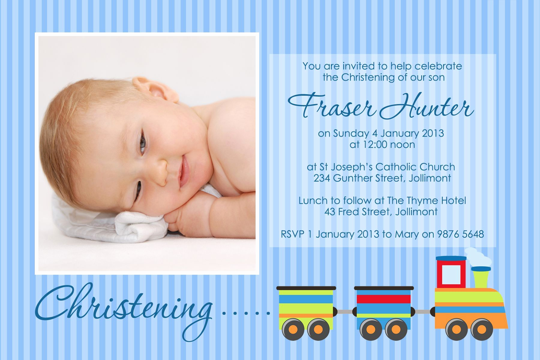 Christening Invitation for Baby Boy Best Of Baptism Invitation for Baby Boy