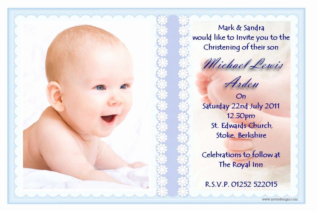 Christening Invitation for Baby Boy Best Of Baptism Invitation Template Microsoft Word