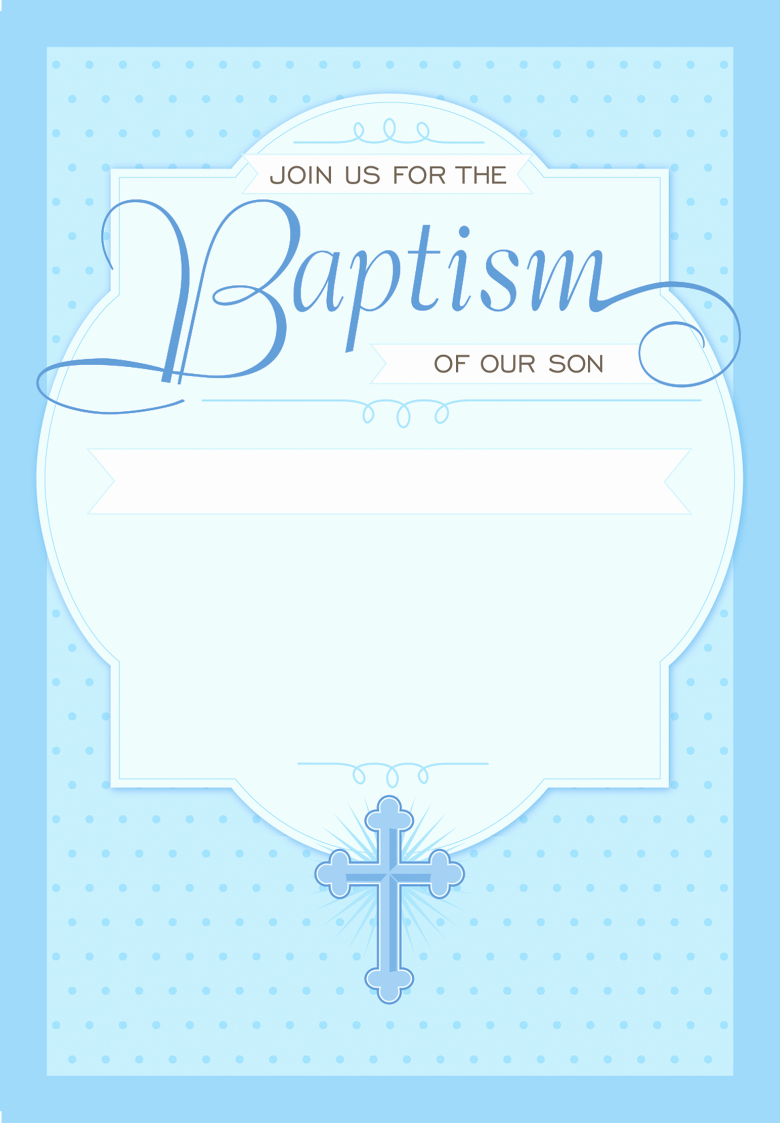 Christening Invitation for Baby Boy Best Of Dotted Blue Free Printable Baptism & Christening