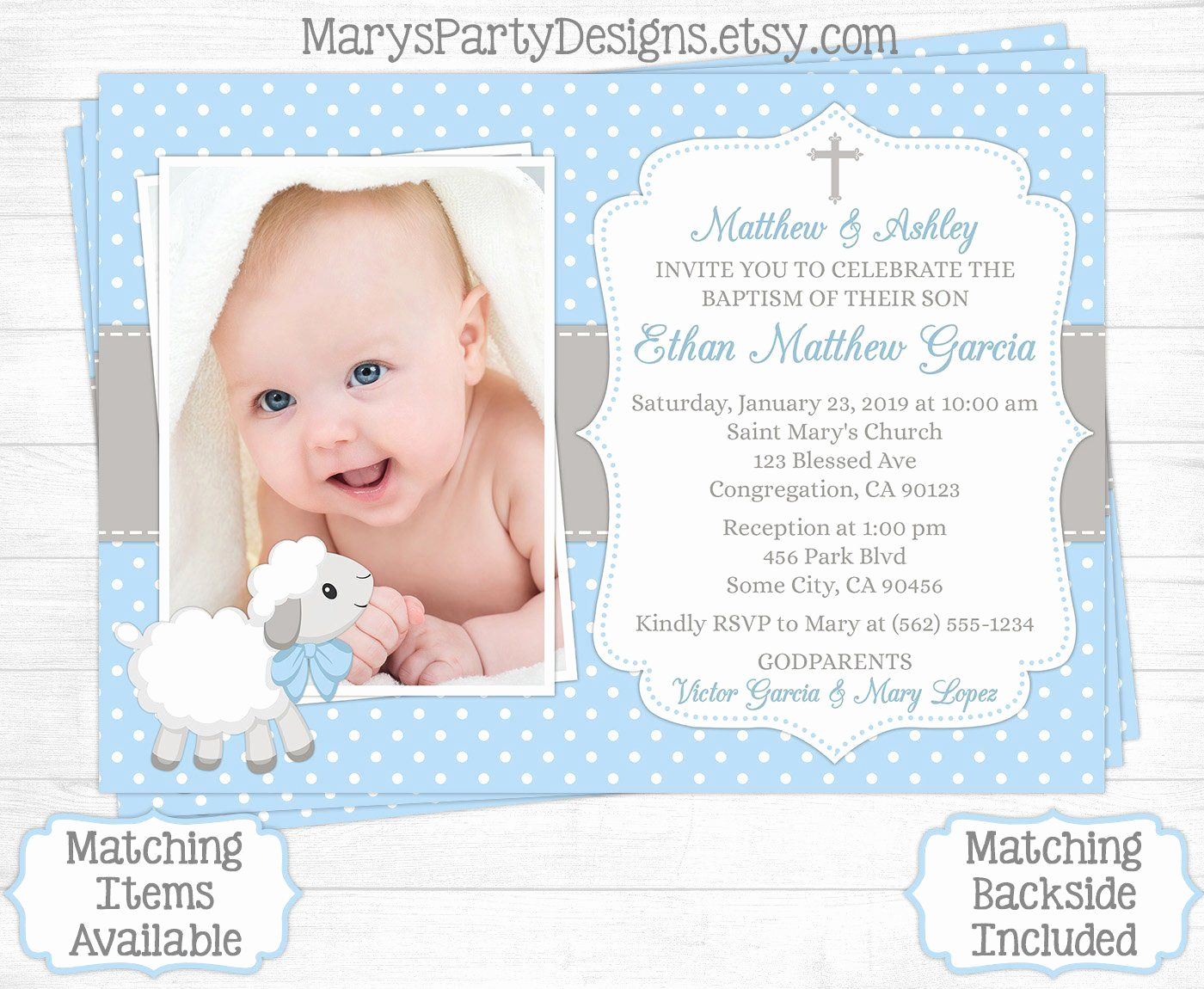 Christening Invitation for Baby Boy Fresh Baptismal Invitation Background Template