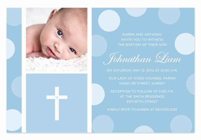 Christening Invitation for Baby Boy Fresh Blue Baby Boy Baptism Christening Invitation by