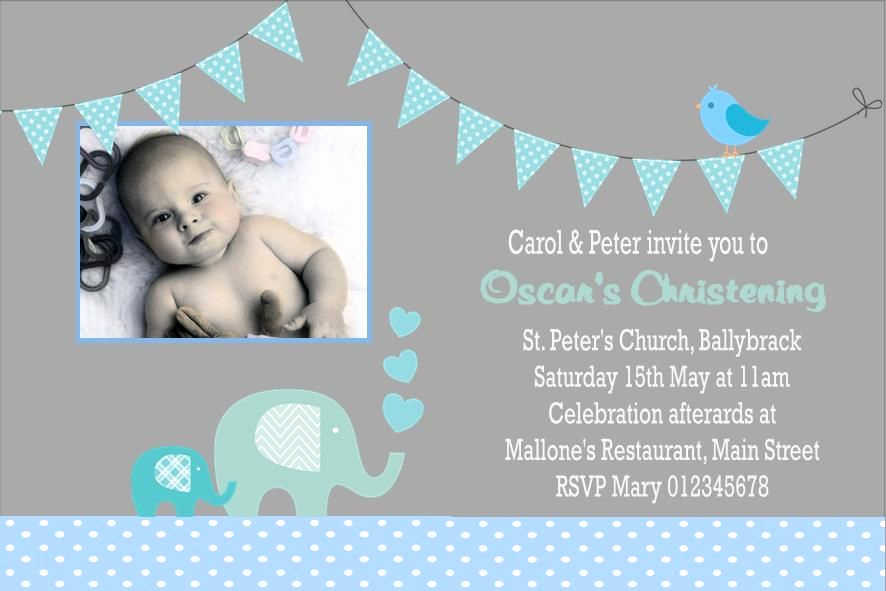 Christening Invitation for Baby Boy Fresh Personalised Boy Christening Invitations Design 9