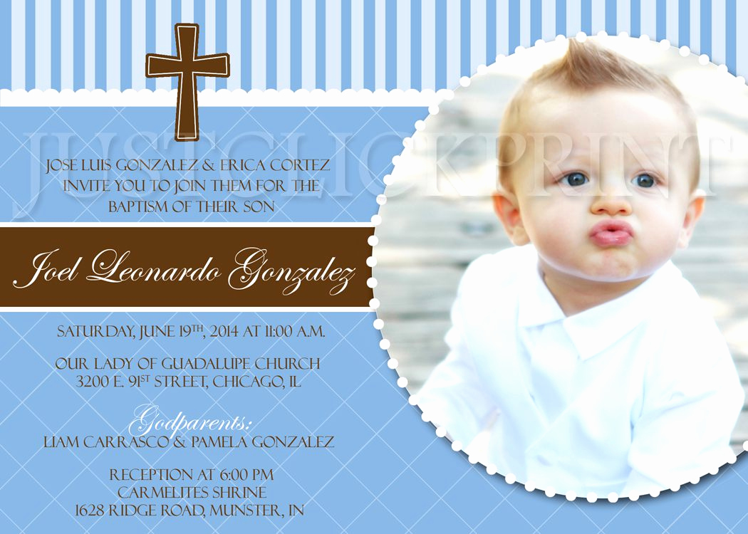 Christening Invitation for Baby Boy Lovely Baptism Invitation Baptism Invitations for Boys New