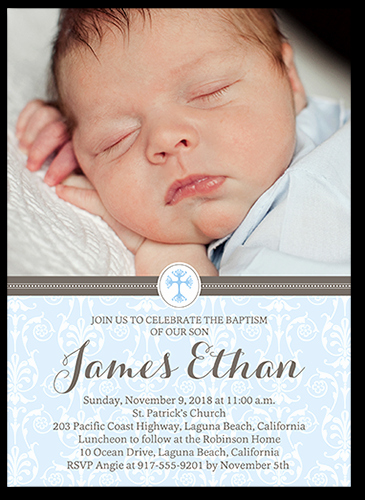 Christening Invitation for Baby Boy Lovely Boy Baptism Invitations