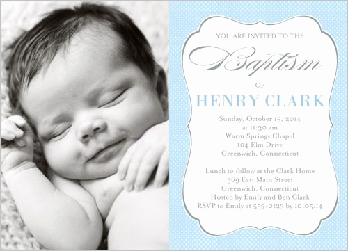 Christening Invitation for Baby Boy Luxury Lovely Script Boy Baptism Invitation