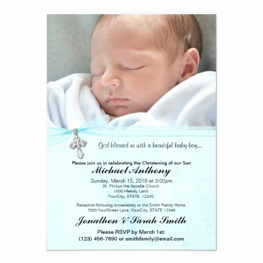Christening Invitation for Baby Boy Unique Baby Boy Baptism or Christening Invitation