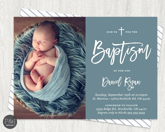 Christening Invitation for Baby Boy Unique Baby Boy or Girl Baptism Christening Invitations Diy