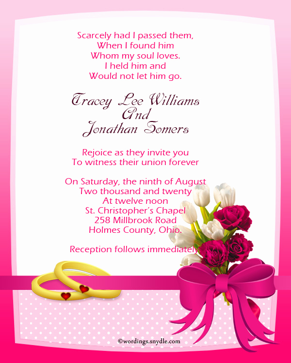 Christian Wedding Invitation Wording Beautiful Christian Wedding Invitation Wording Samples Wordings