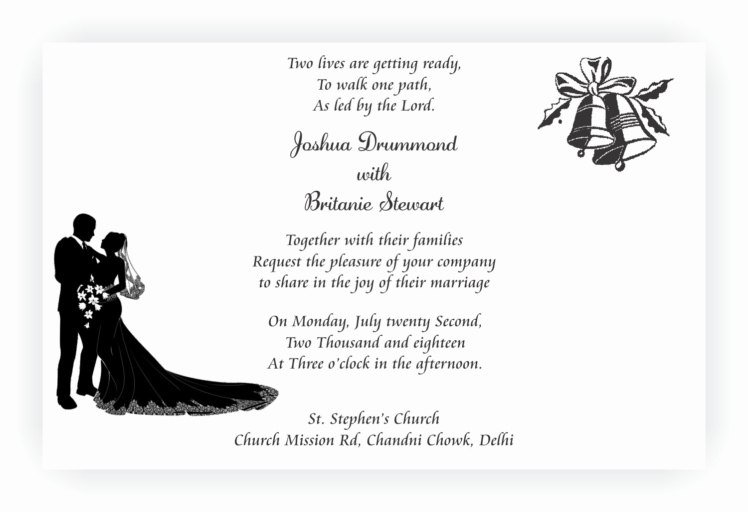 Christian Wedding Invitation Wording Best Of Christian Wedding Invitation Wordings – Chococraft