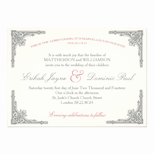 Christian Wedding Invitation Wording Elegant Christian Wedding Invitation Marvellous