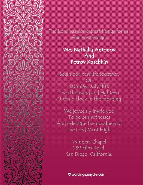 Christian Wedding Invitation Wording Elegant Christian Wedding Invitation Wording Samples Wordings and