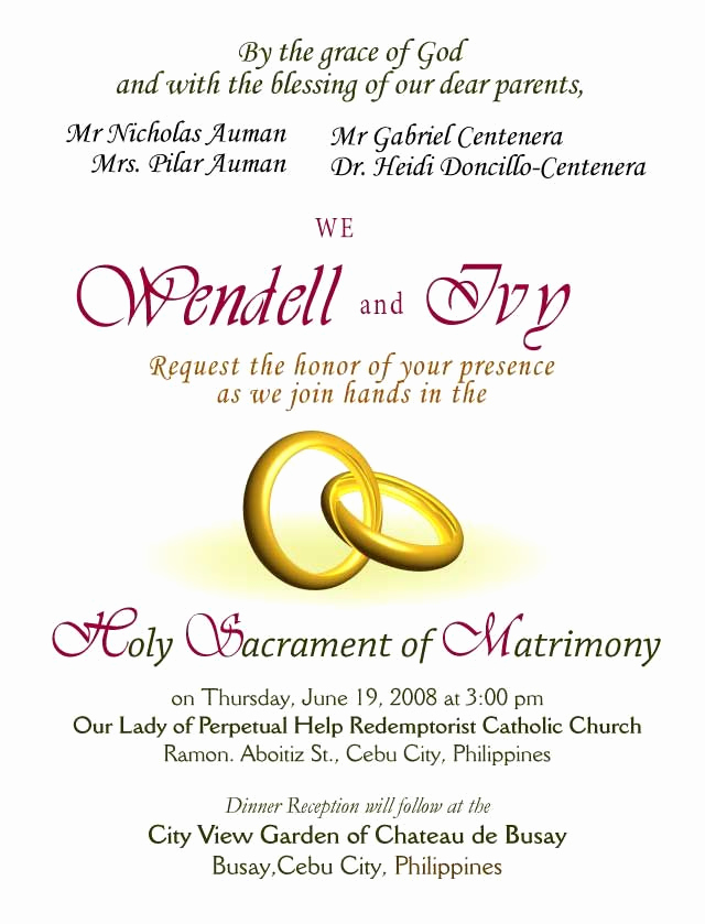 Christian Wedding Invitation Wording Elegant Wedding Invitations Wording Samples