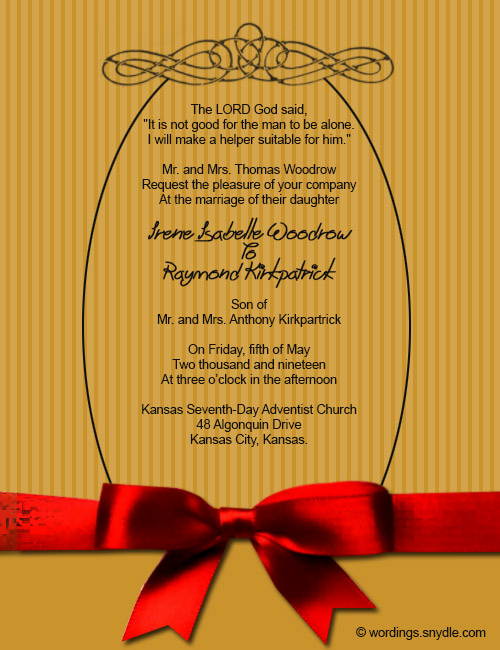 Christian Wedding Invitation Wording Fresh Christian Wedding Invitation Wording Samples Wordings