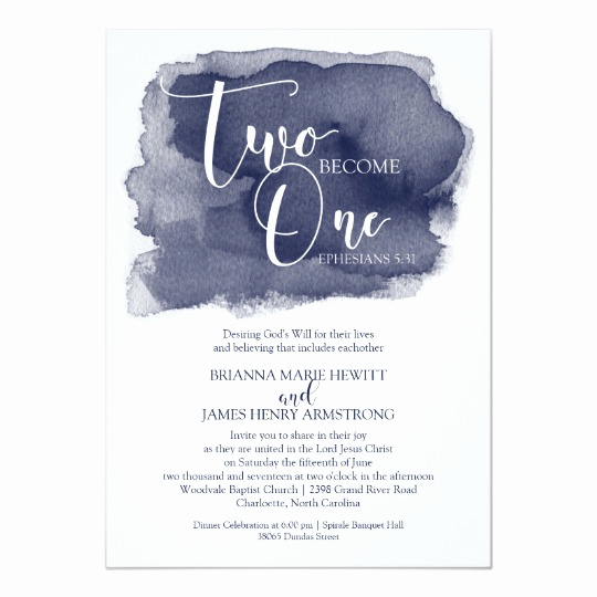 Christian Wedding Invitation Wording Luxury Christian Wedding Invitation Watercolor Navy