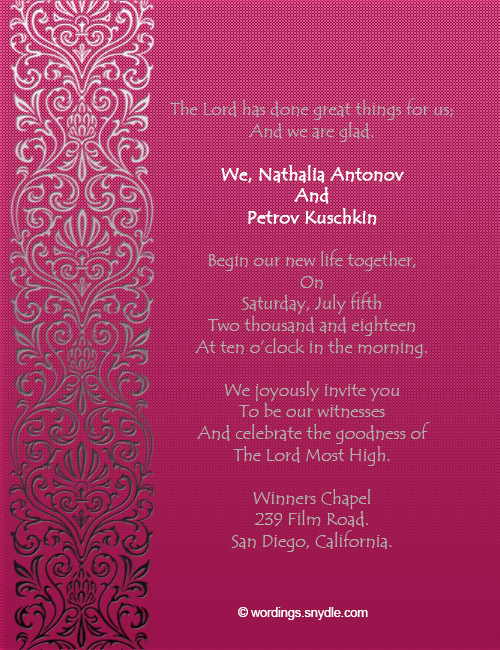Christian Wedding Invitation Wording Luxury Christian Wedding Invitation Wording Samples Wordings