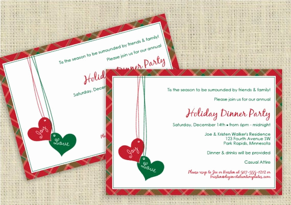 Christmas Dinner Invitation Template Awesome Christmas Dinner Invitation Template by Loveandpartypaper