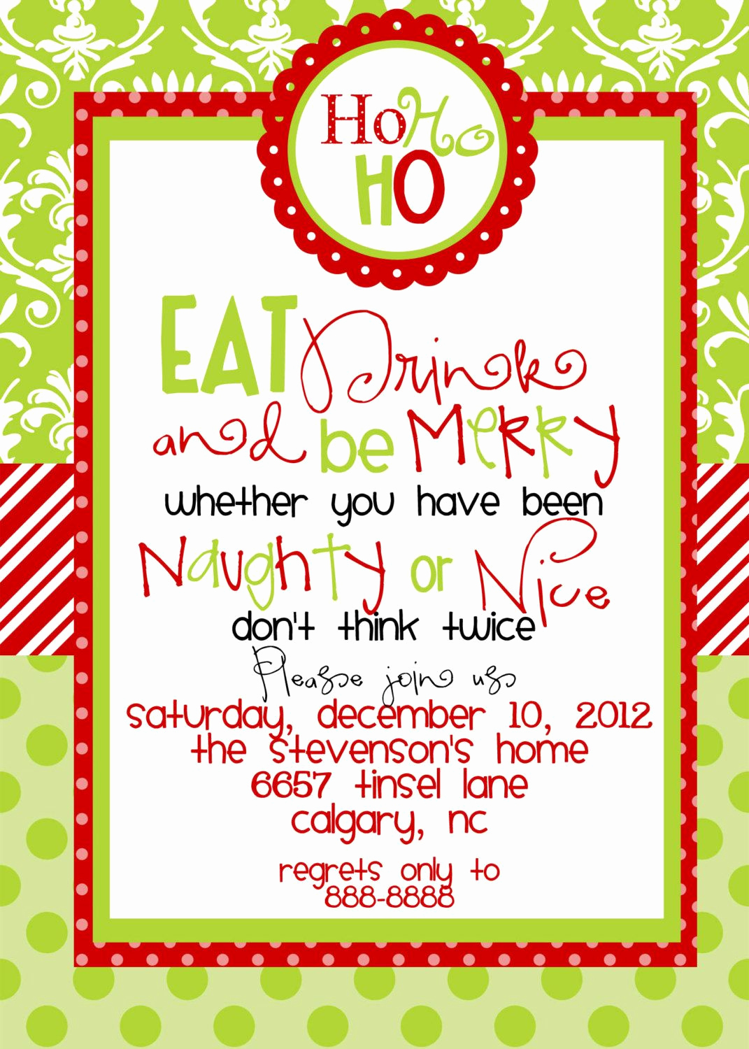 Christmas Dinner Invitation Template Awesome Christmas Party Invitations Templates Free Printables