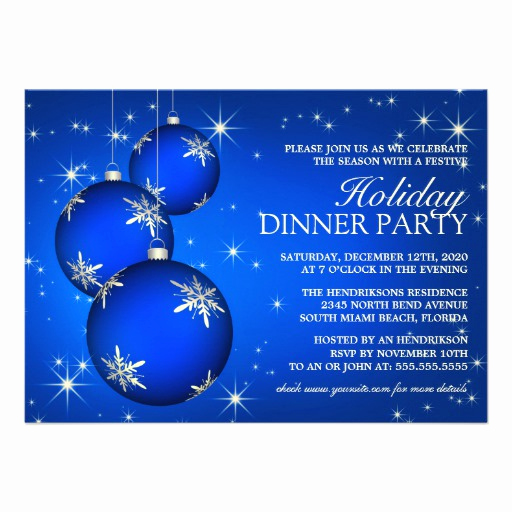 Christmas Dinner Invitation Template Awesome Holiday Dinner Party Invitation Template
