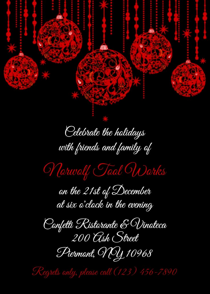 Christmas Dinner Invitation Template Beautiful 17 Best Rscf Holiday Party Invitations Images On Pinterest