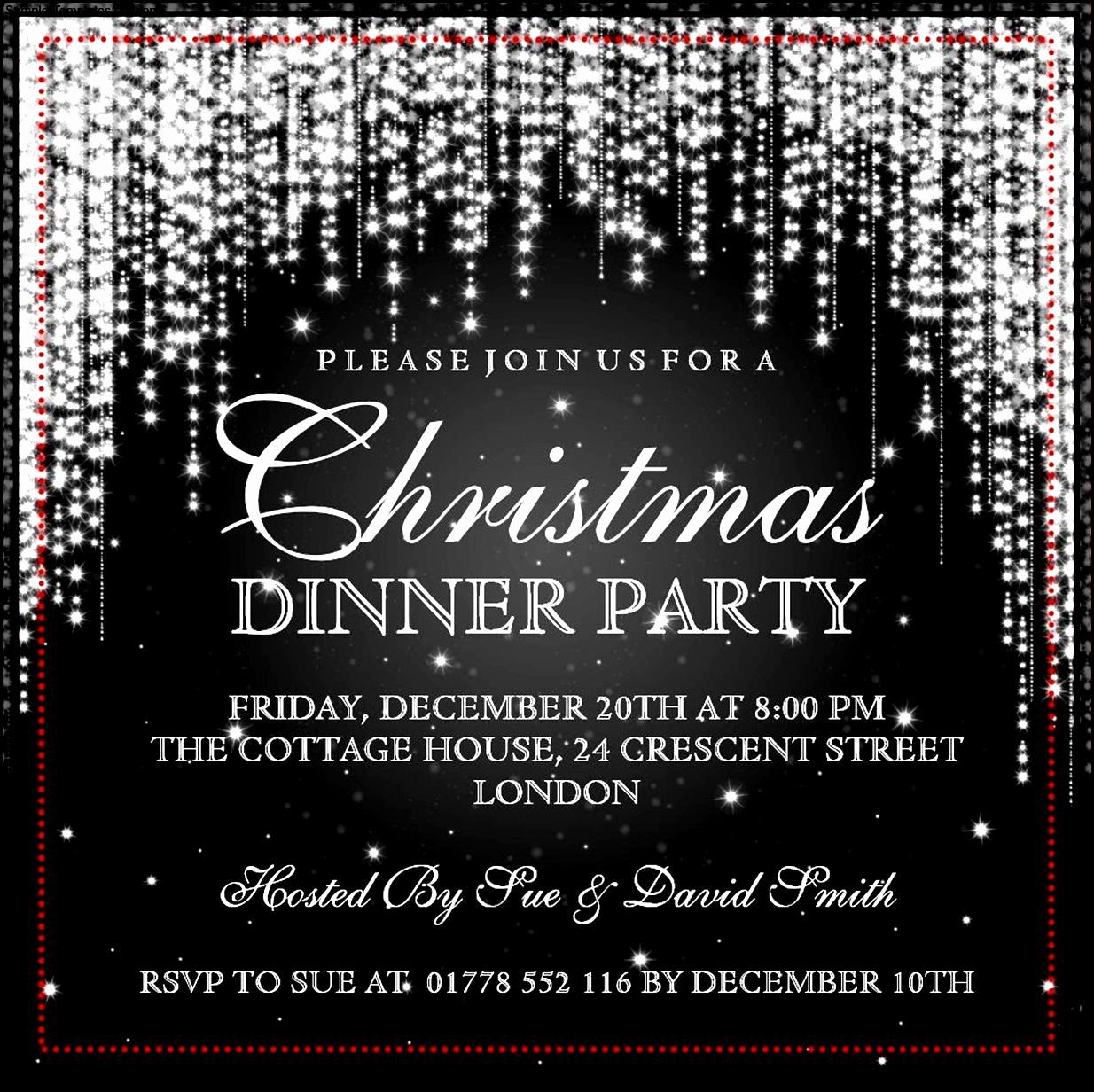 Christmas Dinner Invitation Template Best Of Christmas Invitation Templates
