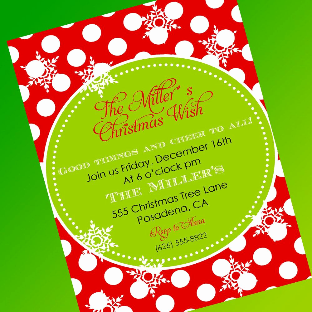 Christmas Dinner Invitation Template Elegant Free Christmas Party Invitation Template