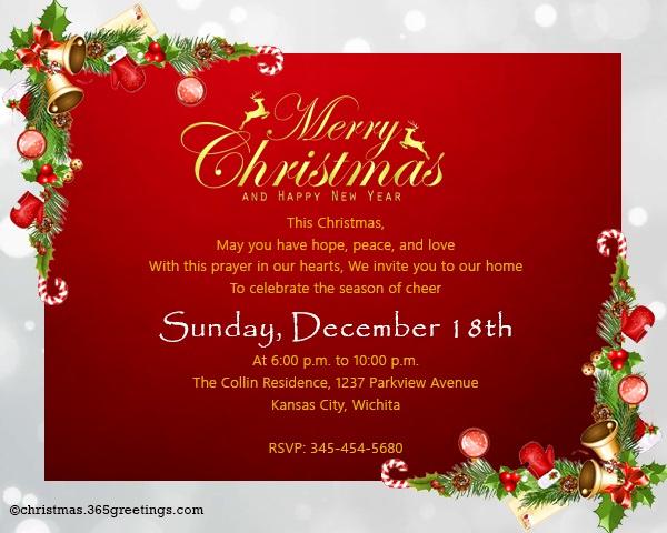 Christmas Dinner Invitation Template Fresh Christmas Invitation Template and Wording Ideas