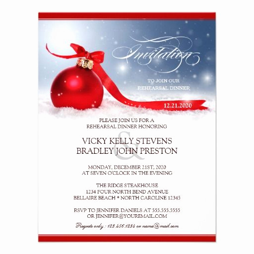 Christmas Dinner Invitation Template Fresh Wedding Invitation Email Wording