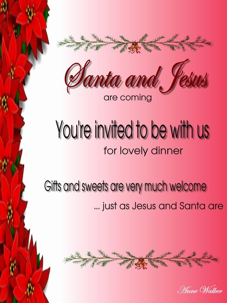 Christmas Dinner Invitation Template Inspirational Christmas Invitation Template and Wording Ideas