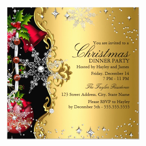 Christmas Dinner Invitation Template Luxury Black Purple Gold Gothic Dinner Party Invitations Template
