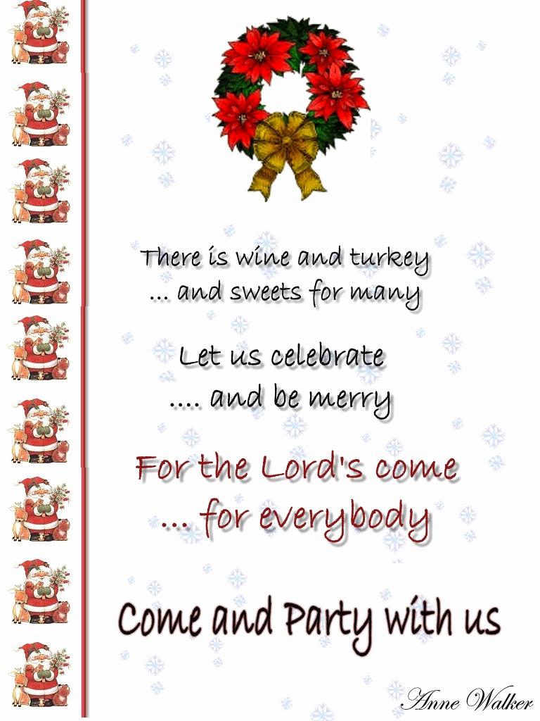 Christmas Dinner Invitation Template New Christmas Invitation Template and Wording Ideas