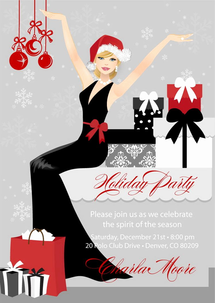 Christmas Eve Party Invitation Beautiful Elegant Christmas Party Invitations