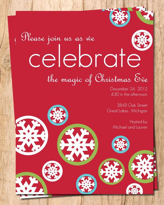 Christmas Eve Party Invitation Best Of Celebrate Christmas Eve Digital Holiday Party Invitation