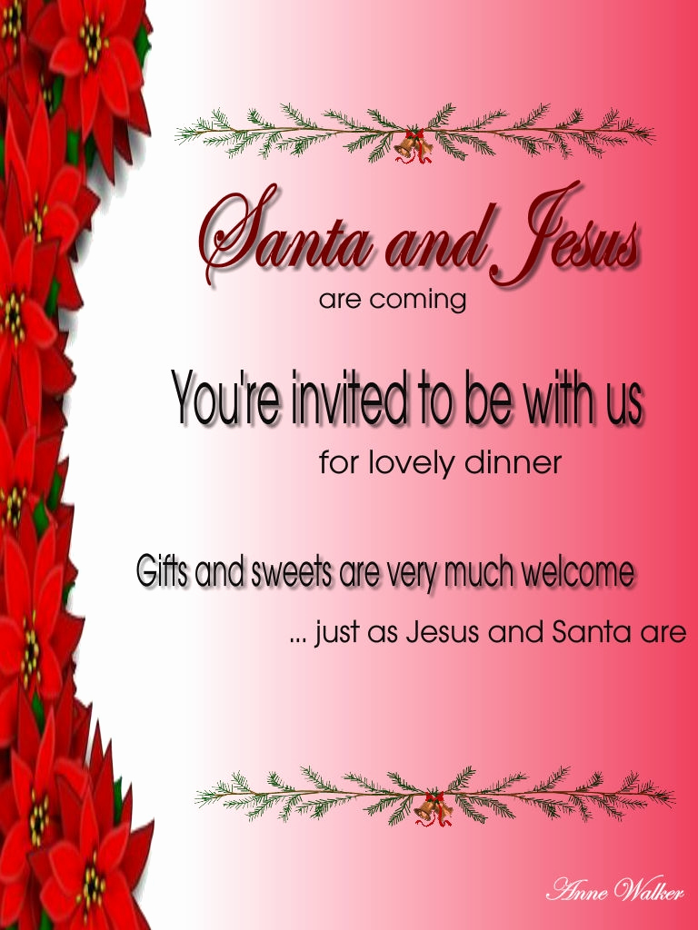 Christmas Eve Party Invitation Elegant Christmas Invitation Template and Wording Ideas