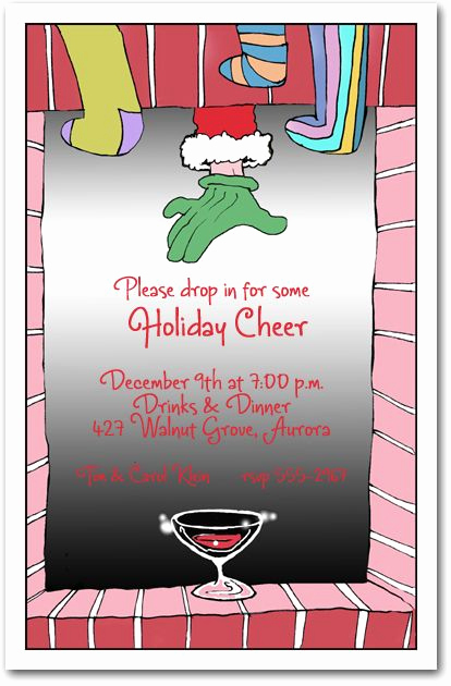 Christmas Eve Party Invitation Inspirational Sip for Santa