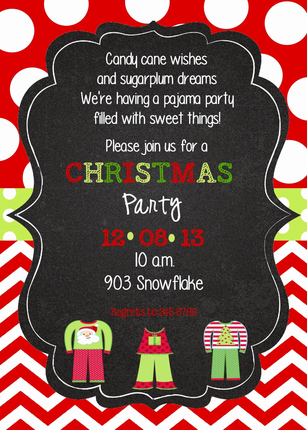 Christmas Eve Party Invitation Lovely Christmas Pajama Party Invitation Digital Printable Pj