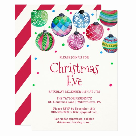 Christmas Eve Party Invitation Luxury Christmas In July Invitations & Announcements