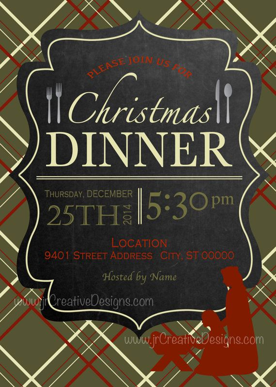 Christmas Eve Party Invitation New 8 Best Christmas Dinner Invitations Supper Brunch Lunch