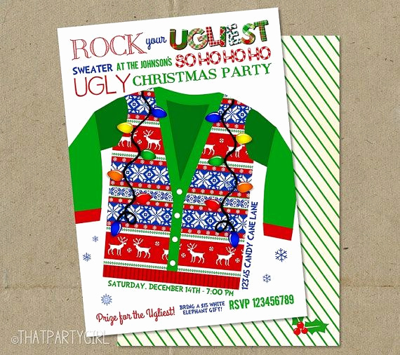 Christmas Eve Party Invitation Unique Ugly Sweater Christmas Party Invitations Tell Your Guests