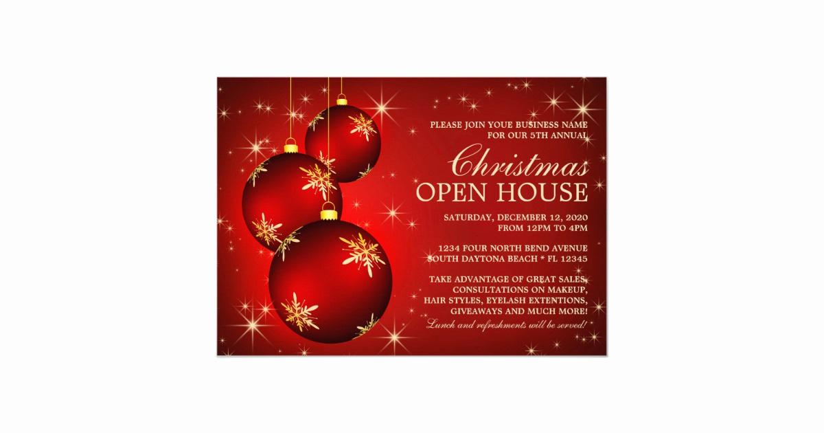 Christmas Open House Invitation Wording Awesome Business Christmas Open House Invitations