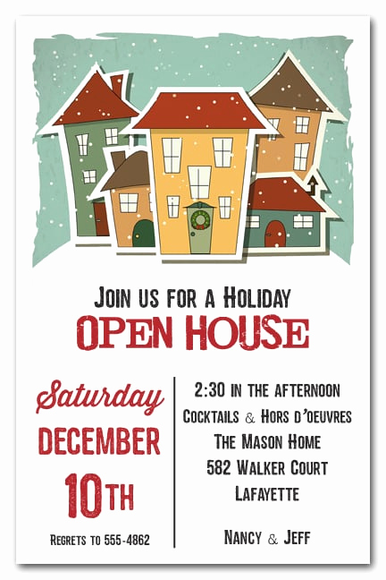 Christmas Open House Invitation Wording Best Of Home for the Holidays Invitation Christmas Invitations