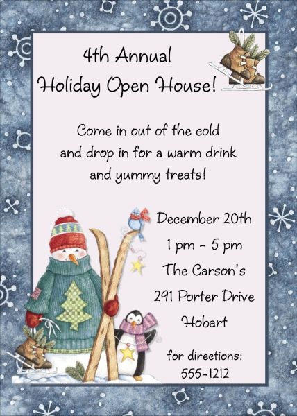 Christmas Open House Invitation Wording Elegant 1000 Ideas About Open House Invitation On Pinterest