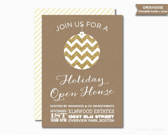 Christmas Open House Invitation Wording Elegant Pany Open House Invitation Printable Christmas Invitation