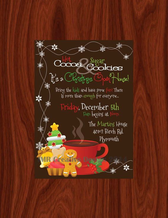 Christmas Open House Invitation Wording Fresh 1000 Ideas About Open House Invitation On Pinterest