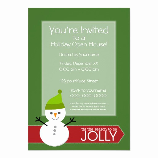 Christmas Open House Invitation Wording Luxury Christmas Holiday Open House Invitation
