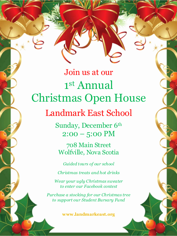 Christmas Open House Invitation Wording New 1st Annual Christmas Open House – Landmark East School