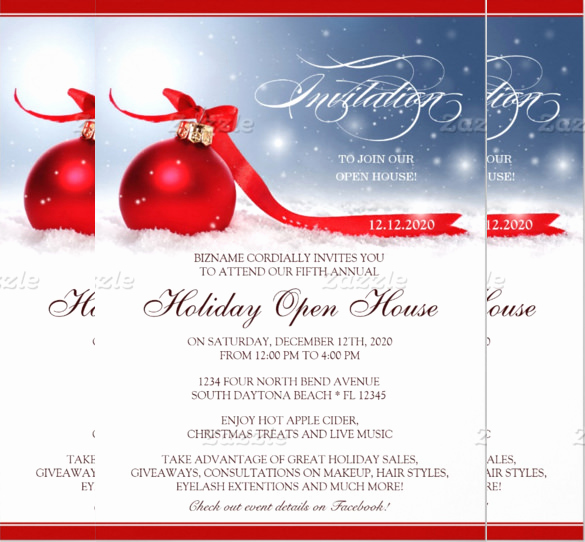 Christmas Open House Invitation Wording New 25 Open House Invitation Templates Free Sample Example